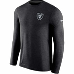 Raiders Nike Coaches Long Sleeve Black Top