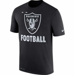 Raiders Nike Legend Football Black Tee