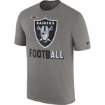 Raiders Nike Legend Football Grey Tee