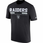 Raiders Nike Legend Staff Black Tee