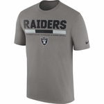Raiders Nike Legend Staff Grey Tee