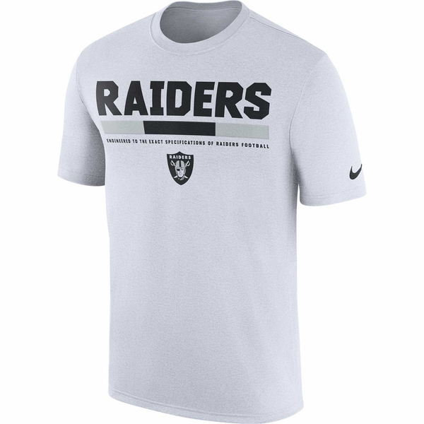 Raiders Nike Legend Staff White Tee