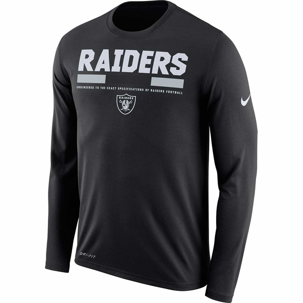 Raiders Nike Long Sleeve Legend Black Tee