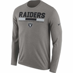 Raiders Nike Long Sleeve Legend Grey Tee