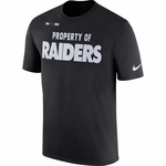 Raiders Nike Property of Facility Black Tee