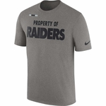 Raiders Nike Property of Facility Grey Tee