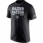 Raiders Nike Raider Nation Black Tee
