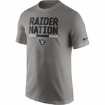 Raiders Nike Raider Nation Grey Tee