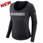Raiders Nike Women's Dri Fit Slub Long Sleeve Tee