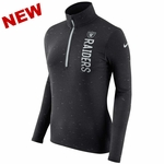 Raiders Nike Women's Element Half Zip Black Top