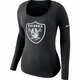 Raiders Nike Women's Long Sleeve Logo Tee