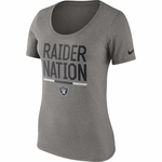 Raiders Nike Women's Raider Nation Grey Tee