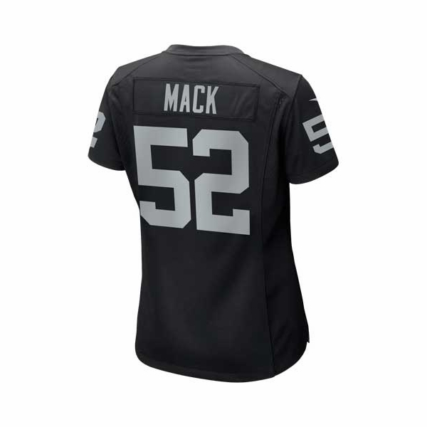 Raiders Nike Womens Khalil Mack Black Game Jersey