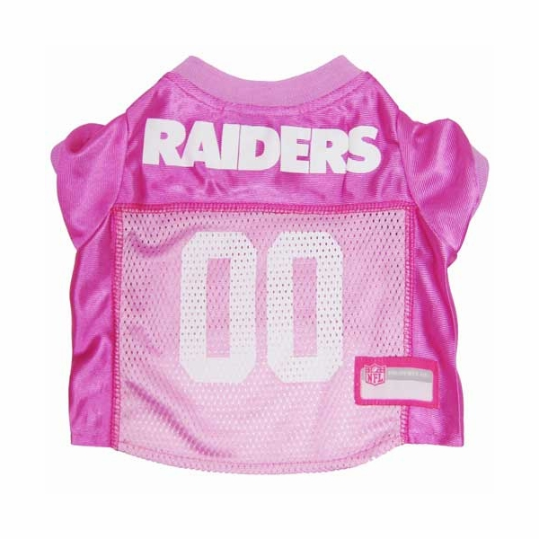 Raiders Pink Mesh Pet Jersey