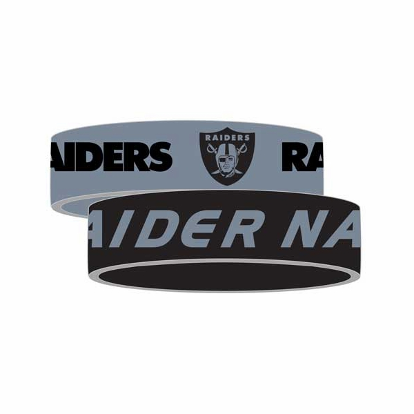 Raiders Silicone Bracelet Two Pack
