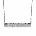 Raiders Silver Bar Necklace