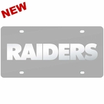 Raiders Silver Matte Frost License Plate