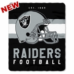 Raiders Singular Fleece Throw