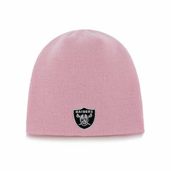 Raiders Toddler Pink Uncuffed Knit Hat