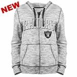 Raiders Women's Space Dye Full Zip Hood