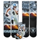 Raiders Youth Carr City Star Socks