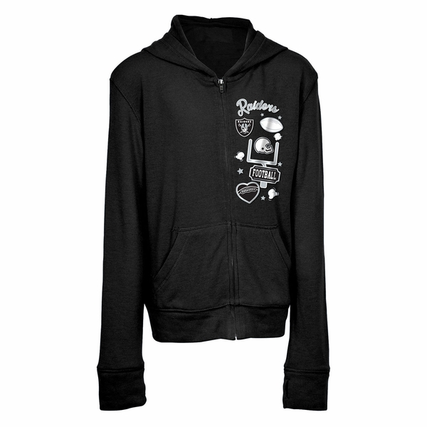 Raiders Youth Full Zip Fleece