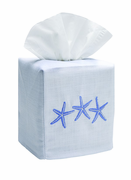 3 Blue Starfish Tissue Box Cover