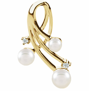 Akoya Cultured Pearl & Diamond Pendant