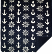 Anchors & Wheels Microplush Throw