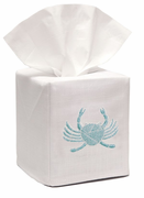 Aqua Crab Tissue Box Cover