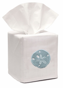 Aqua Sand Dollar Tissue Box Cover