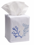 Blue Coral Tissue Box Cover