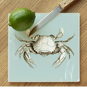 Blue Crab Glass Cutting Board
