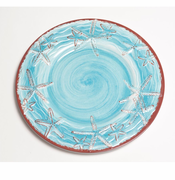 Blue Raised Starfish Dinnerware