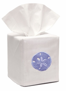 Blue Sand Dollar Tissue Box Cover