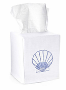 Blue Scallop Shell Tissue Box Cover