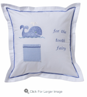 Blue Whale Tooth Fairy Pillow - Click to enlarge