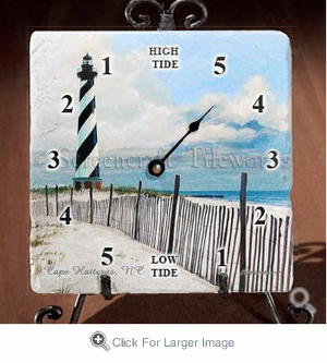 Cape  Hatteras North Lighthouse Tide Clock - Click to enlarge