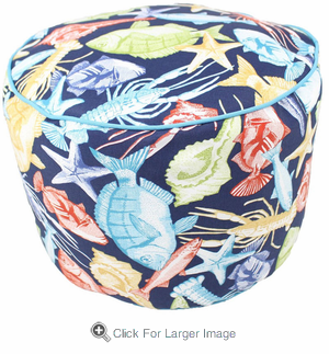 Cast Away Pouf - Click to enlarge