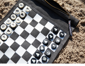 Roll-up Travel Chess & Checker Set