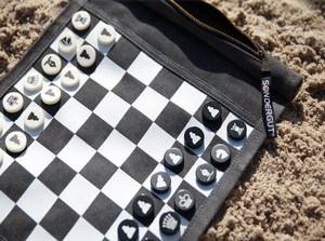 Roll-up Travel Chess & Checker Set - Click to enlarge