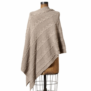 Chunky Cable Poncho - Click to enlarge