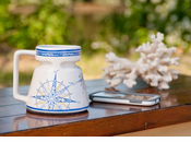 Compass Rose Mugs - Set of 4