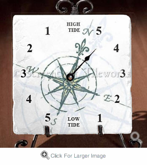 Compass Rose Tide Clock - Click to enlarge