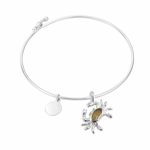 Crab Sterling Bangle - Click to enlarge