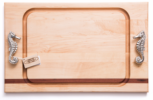 Sea Horse Handle Steak Carving Board - Click to enlarge