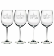 Down The Hatch AP Wine Glasses