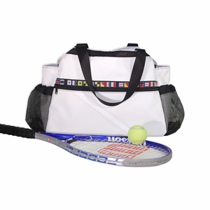 Ella Vickers Sailcloth Tennis Bag Tote - Click to enlarge