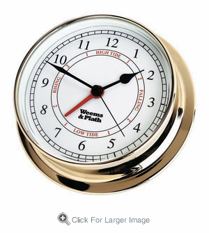 Endurance 125 Brass Time & Tide Clock - Click to enlarge