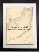 Framed NOAA Historic Nautical Charts